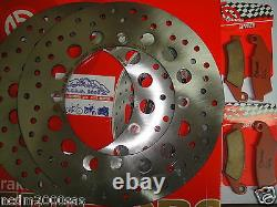 2 Brembo Front Discs And Pads Honda Xrv 750 Africa Twin 2000 2001 7c7