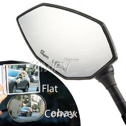 2tone Led Mirrors Amber + White 10mm For Honda Xrv 750 Africa Twin Vf 1000