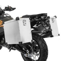 40l Aluminium Bags - 18mm Supports For Honda Africa Twin Xrv 750 / 650