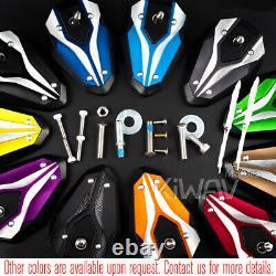 Adjustable Viperii Orange Mirrors For Honda Xrv 750 Africa Twin Vf 1000