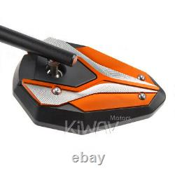 Adjustable Viperii Orange Rearview Mirrors For Honda Xrv 750 Africa Twin Vf 1000