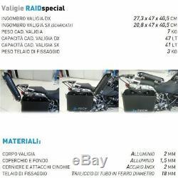 Aluminum Cases Black Mytech 41 + 47 Lt Honda Xrv 750 Africa Twin 1993-2003