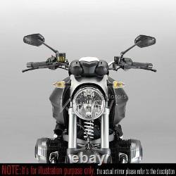 Black Mirror Zipper Cnc Style Stem For Honda Xrv 750 Africa Twin Vf 1000