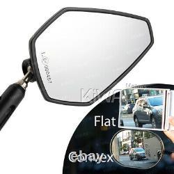 Black-orange Achilles Rearview Mirror For Honda Xrv 750 Africa Twin Vf 1000