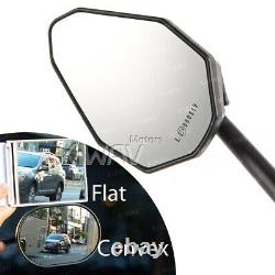 Blue Black Viperii Mirrors M10 5/16 For Honda Xrv 750 Africa Twin Vf 1000