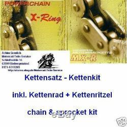 DID 525 VX Chain Kit Honda Xrv 650 Africa Twin, Xrv650, Rd03, 16-49-124, Kit