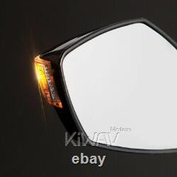 E-mark Carbon Flashing Rearview Mirror For Honda Xrv 750 Africa Twin Vf 1000