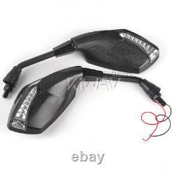 Flashing E-mark Carbon Mirror For Honda Xrv 750 Africa Twin Vf 1000