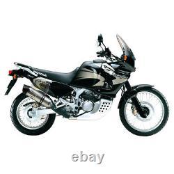 For Honda Africa Twin Xrv 750 1995 95 Exhaust Pot Leovince LV One Evo Sil