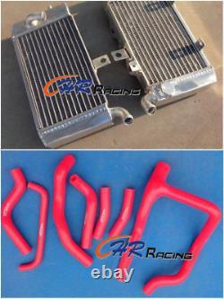 For Honda Xrv750 Xrv 750 Africa Twin Aluminum Radiator - Red Silicone Hose