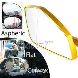 Gold Motorcycle Mirrors Cleaver Style For Honda Xrv 750 Africa Twin Vf 1000