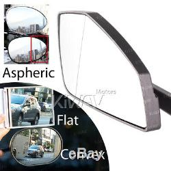 Gray Motorcycle Mirrors Cnc Cleaver Look For Honda Africa Twin 750 XIV Vf 1000