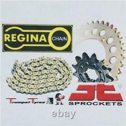 Honda Xrv650 Africa Double 88 89 90 Regina Chain O Ring 525 Jt Pignon Set 16 49