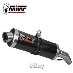 Honda Xrv 750 Africa Twin 2001 2002 MIVV Oval Carbon Certified In Muffler