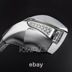 Led Chrome Rearview Mirrors Motorcycle Indicator For Honda Xrv 750 Africa Twin Vf 1000