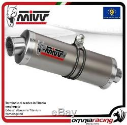 MIVV Oval Pot D'exhaust Approves Titanium Xrv750 Honda Africa Twin 1996 96