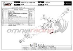 MIVV Oval Pot D'exhaust Approves Titanium Xrv750 Honda Africa Twin 2002 02