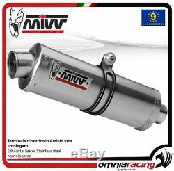 MIVV Oval Stainless Steel Exhaust Approved For Xrv750 Honda Africa Twin 1993