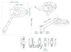 Marine Blue Viper Model Mirror For Honda Xrv 750 Africa Twin Vf 1000