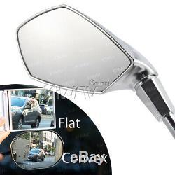 Matt Chrome Led 10mm Mirrors For Honda Xrv 750 Africa Twin Vf 1000