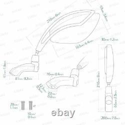 Orca Folding Retro M10 Pr Honda Xrv 750 Africa Twin Vf 1000 360° Adjustment