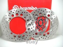 Pair 2 Brembo Brake Discs Before 68b407c7 Honda Africa Twin Xrv 750 1998