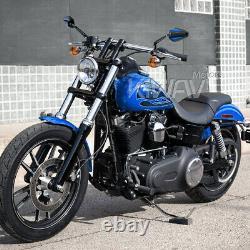 Pair Mirror Achilles Black + Blue For Honda Xrv 750 Africa Twin Vf 1000
