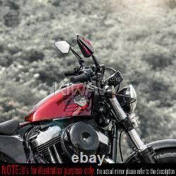 Pair Mirror Achilles Black + Red For Honda Xrv 750 Africa Twin Vf 1000