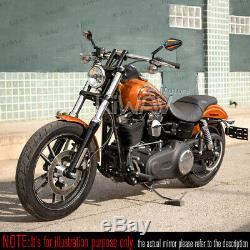 Pair Mirror Black Achilles + Orange To Fourteenth Honda 750 Africa Twin Vf 1000