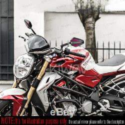 Pair Mirror Black Achilles + Red Honda Fourteenth 750 Africa Twin Vf 1000