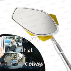 Rearview Mirror Model Viper Yellow Gold For Honda Xrv 750 Africa Twin Vf 1000
