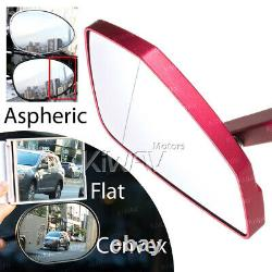 Red Motorcycle Mirrors Cleaver Style For Honda Xrv 750 Africa Twin Vf 1000