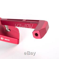 Red Motorcycle Mirrors Cnc Cleaver Look For Honda Africa Twin 750 XIV Vf 1000