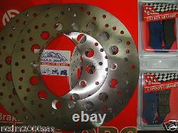 Set 2 Discs Brembo + Front Pads Honda 750 Xrv Africa 2001 2002 Twin 7c7