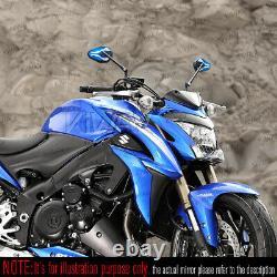 Universal Blue Black Viperii Mirrors For Honda Xrv 750 Africa Twin Vf 1000