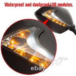 2tone LED rétroviseurs ambre + blanc 10mm pour Honda xrv 750 africa twin VF 1000