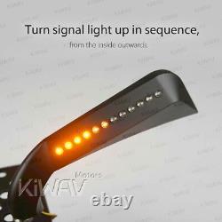 AXE noir rétroviseurs LED Clignotant moto pour honda xrv 750 africa twin VF 1000