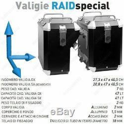 Aluminium Cases Black Mytech 41 + 47 Lt Honda 750 XRV Africa Twin 1993-2003