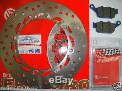 Disque Frein BREMBO + Plaquettes Arrière Honda 750 XRV Africa Twin 1996 1997 7A5