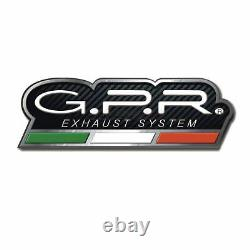 Gpr Pot Echappement Approuve + Tube Sa Honda Africa Twin 750 Rd04 Xrv 75 1990 90