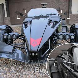 Gris moto rétroviseurs CNC Cleaver look pour honda xrv 750 africa twin VF 1000