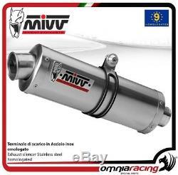 MIVV OVAL Pot D'Echappement approuve acier HONDA XRV750 AFRICA TWIN 2001 01
