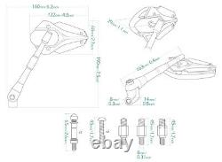 Magazi rétroviseur modèle VIPER vert pour Honda xrv 750 africa twin VF 1000