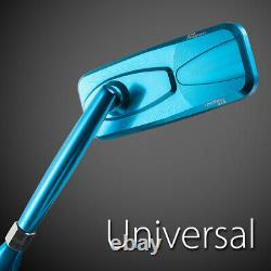Modern bleu rétroviseurs aluminum 10mm pour honda xrv 750 africa twin VF 1000