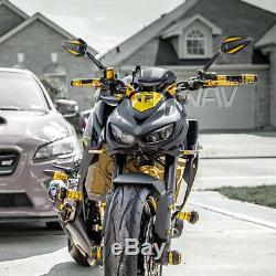 Pair rétroviseur Achilles noir + or pour Honda xrv 750 africa twin VF 1000