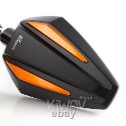 Pair rétroviseur Achilles noir + orange pour Honda xrv 750 africa twin VF 1000