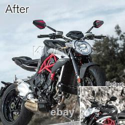 Pair rétroviseur Achilles noir + rouge pour Honda xrv 750 africa twin VF 1000