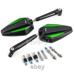 Pair rétroviseur Achilles noir + vert pour Honda xrv 750 africa twin VF 1000
