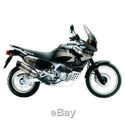 Pour Honda Africa Twin Xrv 750 2001 01 Pot D'échappement Leovince LV One Evo Sil