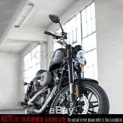 Rétros ViperII noir M10 5/16 adjustable pour Honda xrv 750 africa twin VF 1000